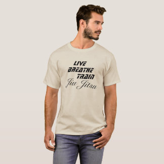 T-shirt BJJ vivants respirent le combattant de MIXED