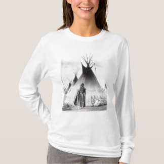 T-shirt Blackfoot courageux, près de Calgary, Alberta,