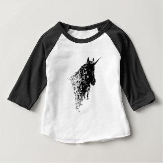 T-shirt blanc de bébé de conception de licorne