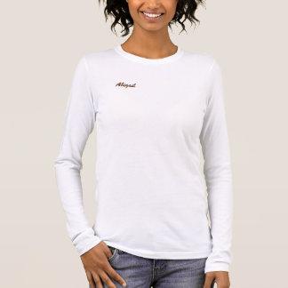 T-shirt blanc de douille d'Abigaïl long