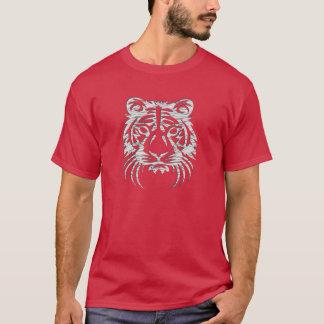 T-shirt blanc de graphique de tigre
