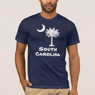 T-shirt blanc de la Caroline du Sud de Palmetto