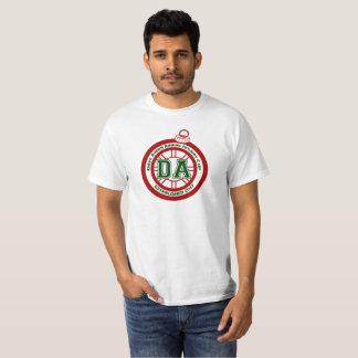 T-shirt Blanc de pièce en t de tasse de congé annuel de