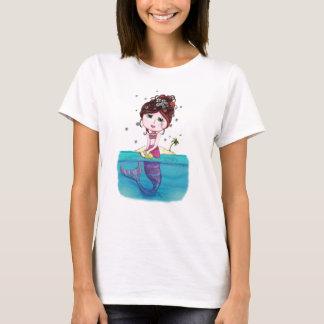 T-shirt Blanc de sirène d'Andrea