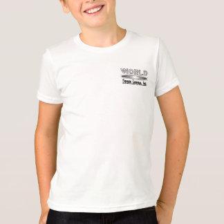 T-shirt blanc de sonnerie de noir de ligue de
