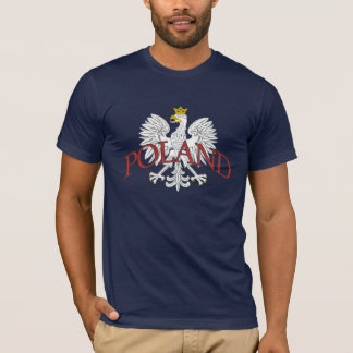 T-shirt Blanc Eagle de la Pologne