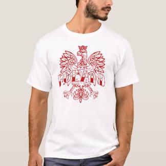 T-shirt Blanc Eagle d'encre de la Pologne