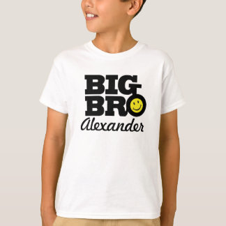 T-shirt blanc et jaune de grand de bro noir de nom