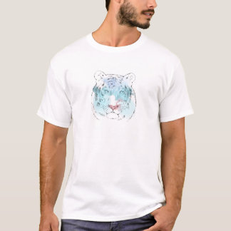 T-shirt blanc pour aquarelle de tigre