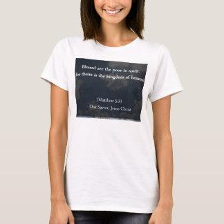 T-shirt Blessed sont les pauvrex en l'esprit