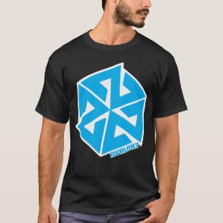 T-shirt Bleu de base d'Inspiracon sur le blanc