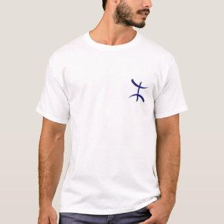 T-shirt bleu de berber d'aza