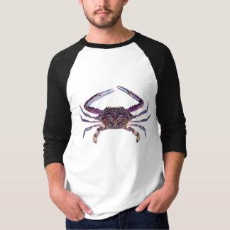 T-shirt bleu de crabe de nageur