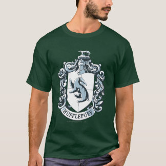 T-shirt Bleu de crête de Hufflepuff