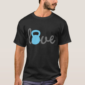 T-shirt Bleu de Kettlebell d'amour