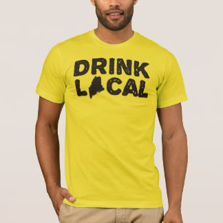 "T-shirt bleu de logo ""du Maine local des boissons"""
