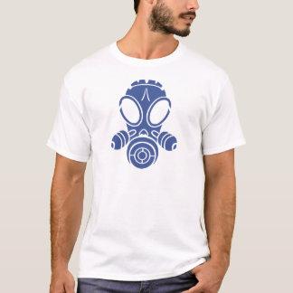 T-shirt bleu de masque de gaz