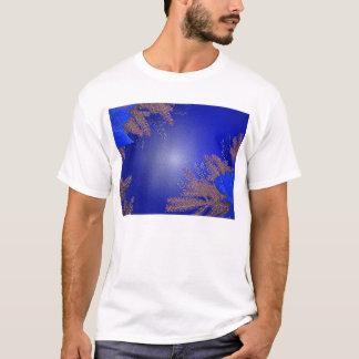 T-shirt Bleu de poinsettia de Noël