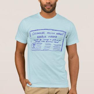 T-shirt Bleu de police de la grammaire des hommes
