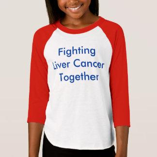 T-shirt bleu de raglan du slogan 3/4-sleeve de