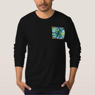 T-shirt Bleu en verre souillé : Graphiques artistiques de