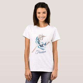 T-shirt bleu personnalisable de danseur