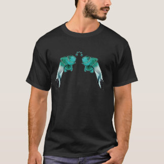 T-shirt Bleu psychédélique de poissons