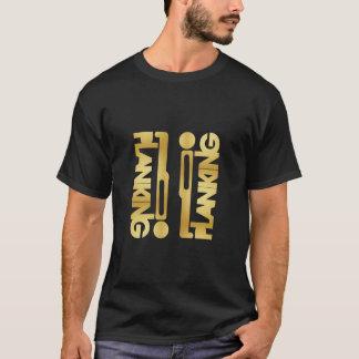 T-shirt Bloc de Planking d'or