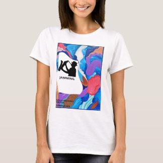 T-shirt Bloquer de saxophone de coq
