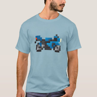 T-shirt Bloxels Blue sport Motorcycle