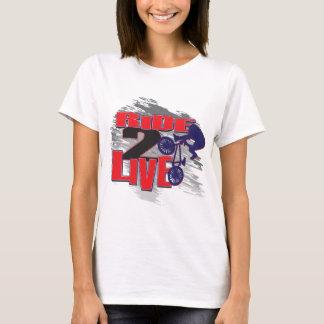 T-shirt BMX vivent pour monter le tour pour vivre