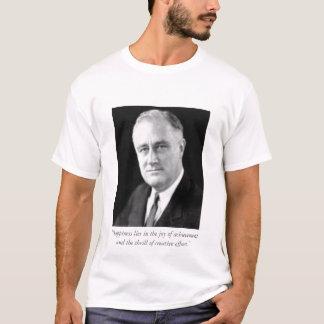 """T-shirt Bonheur de FDR le """"se situe dans la joie de"""