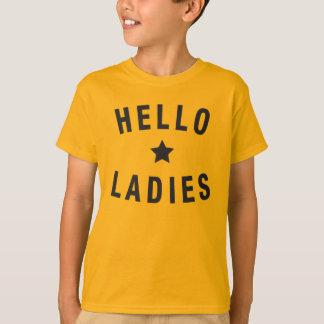 T-shirt Bonjour dames, conception de la jeunesse dans le