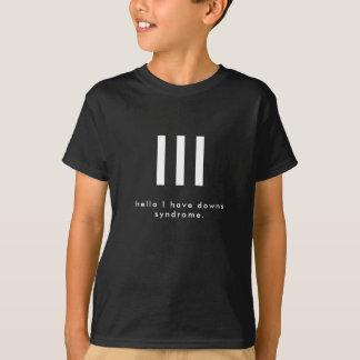 T-shirt Bonjour, j'ai la chemise de syndrome de bas
