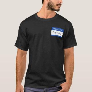 T-shirt Bonjour, je suis catholique