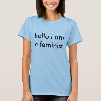 T-shirt bonjour je suis une CHEMISE féministe