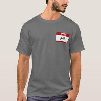 T-shirt Bonjour mon nom est Keith (rouge)