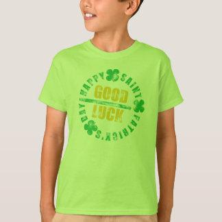 T-shirt Bonne chance de saint de jour heureux de Patricks