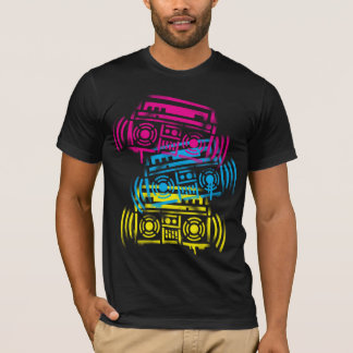 T-shirt Boomboxes marqué au poncif