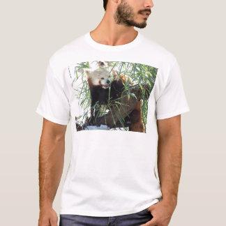 T-shirt Bouche ouverte de panda rouge