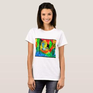T-shirt Bouddha abstrait