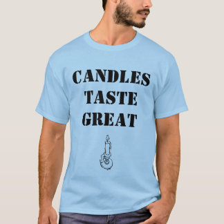 T-shirt Bougies de goût grand