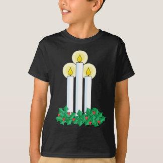 T-shirt bougies de Noël
