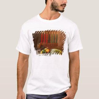 T-shirt Bougies et nourriture de Kwanzaa