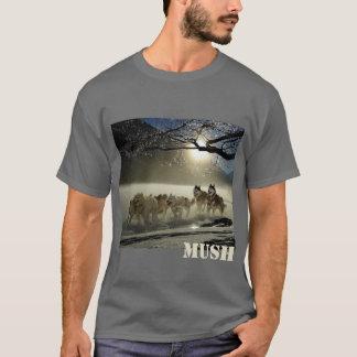 T-shirt Bouillie de maïs d'image d'équipe de traîneau de