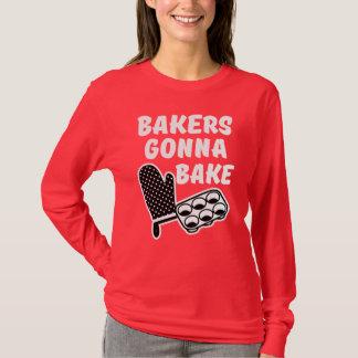 T-shirt Boulangers allant faire la chemise cuire au four