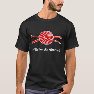 T-shirt Boule rouge de fil (Knit et crochet)