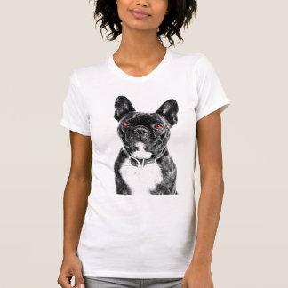 T-shirt Bouledogue français observé par rubis