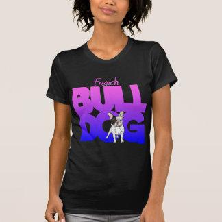 T-shirt Bouledogue français, pink2blue