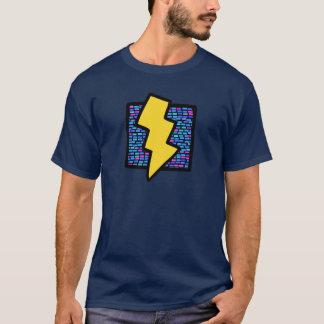 T-shirt Boulon de foudre bleu de briques